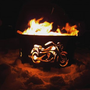 Motorcycle Fire- Outside